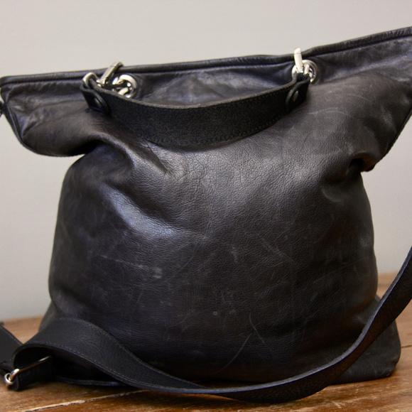 M0851 Handbags - M0851 Leather City Shopper-Grey